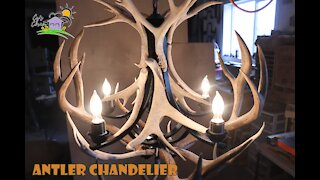 How to make a stunning antler chandelier