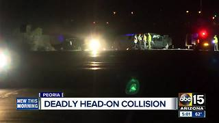 Deadly head-on crash in Peoria - Video