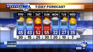 A storm is heading for Colorado and it will bring heavy snow to the mountains - Video