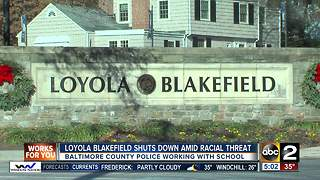 Racist graffiti closes Loyola Blakefield for the day - Video