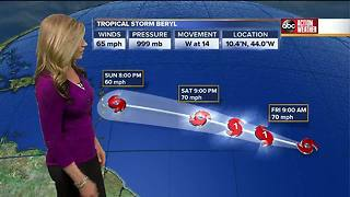 Tropical Storm Beryl forms in the Atlantic
