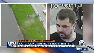 Car jacking suspect still in hospital - Video