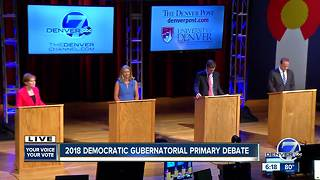 Full debate: Denver7 and The Denver Post host Democratic gubernatorial debate