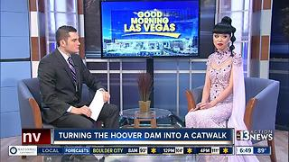 Paris model turning Hoover Dam into a catwalk - Video