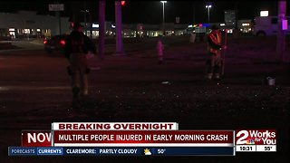 Multiple people injured in early morning crash