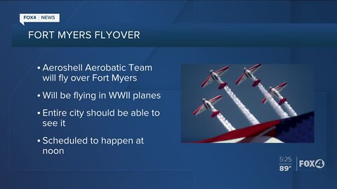 Fort Myers flyover scheduled for tomorrow