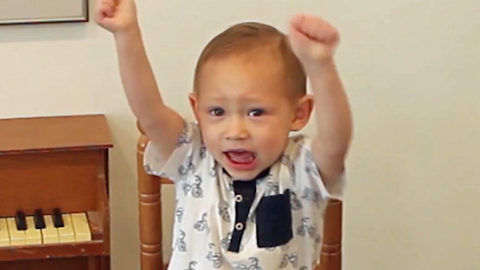 Is this the most adorable pregnancy announcement ever? Excited toddler announces he will be big brother