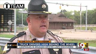 Truck drivers high behind the wheel