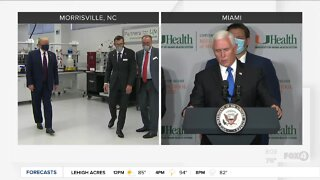 President Trump and Vice President Mike Pence visit vaccine sites