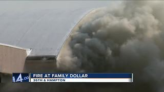 Milwaukee Fire Department battles 2-alarm fire at Family Dollar Store