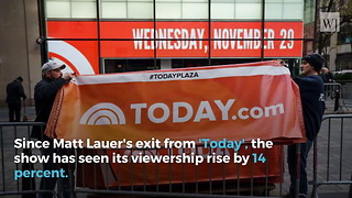 Viewers Send NBC Surprising Message Following Matt Lauer Firing - Video