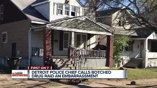 Detroit Police Chief calls botched drug raid an embarrassment - Video