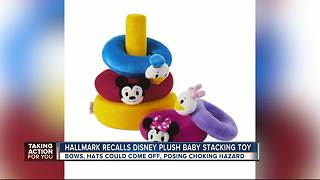 Hallmark recalls plush baby stacking toys due to choking hazard - Video
