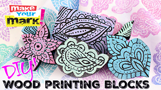 DIY wood printing blocks - Video
