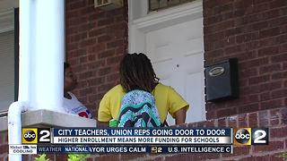 Baltimore teachers hit the streets to raise enrollment - Video