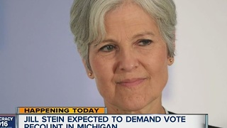 Jill Stein expected to demand vote recount in Michigan - Video