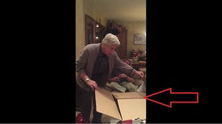 Dad opens Christmas gift to find the best surprise ever! - Video