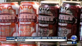 Boulder begins taxing sugar sweetened drinks - Video