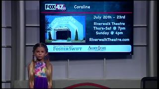 Around Town Kids 7/14/17: Coraline at Riverwalk Theatre - Video