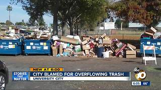 Residents blame city for trash heap at park