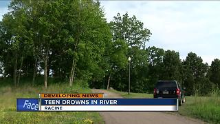 14-year-old teen drowns in Root River in Racine County - Video