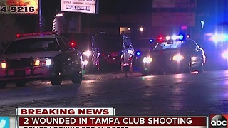 Club shooting in Tampa hospitalizes two; police looking for shooter - Video