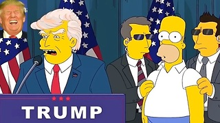 Trump Trolls Naysayers With Simpsons-Inspired 'Super Trump' Video