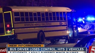 Metro School Bus Involved In Crash - Video