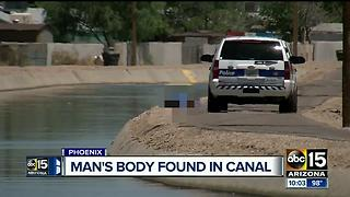 Body found in west Phoenix canal - Video