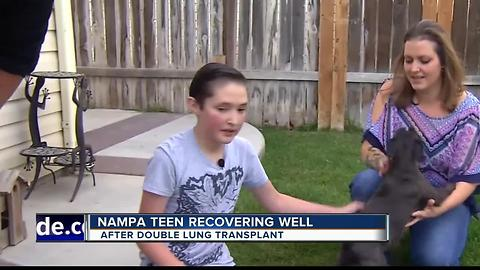 Nampa teen speaks out after lung transplant