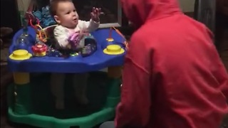 Baby turns trick back on mom - Video
