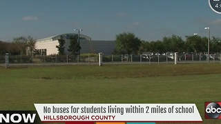 No buses for students living within 2 miles of school - Video