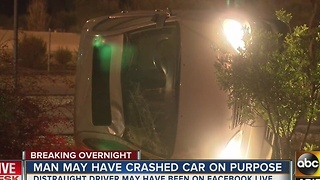 Driver being investigated for rollover may have intentionally caused crash - Video