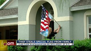 Thief steals 9/11 flag from family