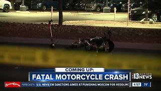 Fatal motor cycle crash on near Sahara and Jones - Video