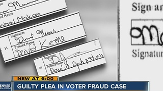 Guilty plea in voter fraud case - Video