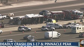 Crews on scene of deadly crash on Interstate 17 - Video