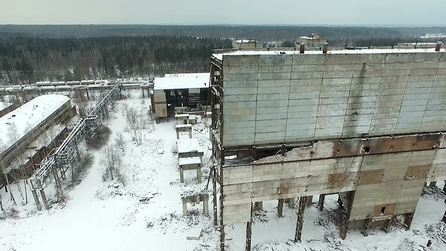 Drone captures chilling images of abandoned Russian factory