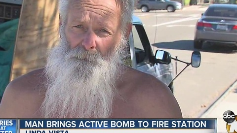 Man Brings Active Bomb to Fire Station