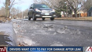 Drivers want city to pay for damage after leak - Video