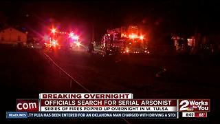 Series of house fires in west Tulsa point to arson - Video