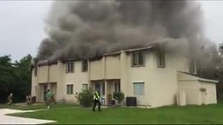 St. Lucie County Apartment Fire - Video