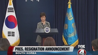 South Korea president announces resignation - Video