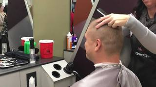 Greenwood hair salon trying to break record for good cause - Video