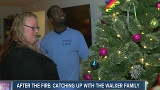 After the fire: Catching up with the Walker family - Video