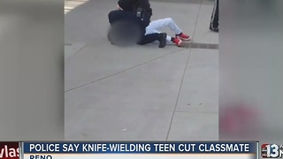 Reno police: Knife-wielding boy on campus had cut classmate - Video