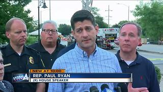 House Speaker Paul Ryan assessed flooding in his district - Video