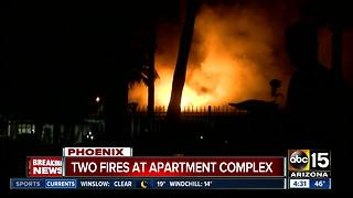 Firefighters battle blaze at Phoenix apartment complex - Video