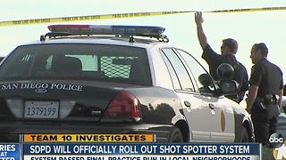 SDPD to officially roll out ShotSpotter technology in some local neighborhoods