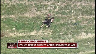 Authorities arrest suspect after high-speed chase